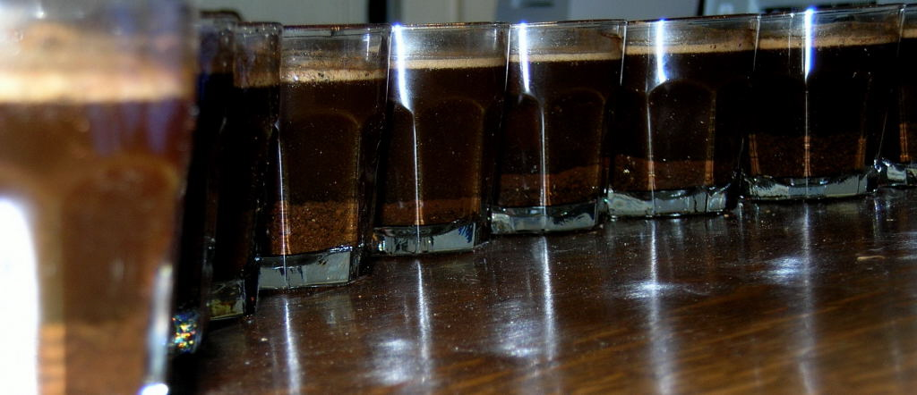 row of cupping glasses